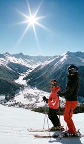 sol esquiadores