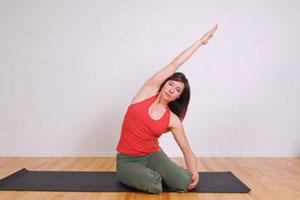 ejercicio pilates estiramiento lateral sirena