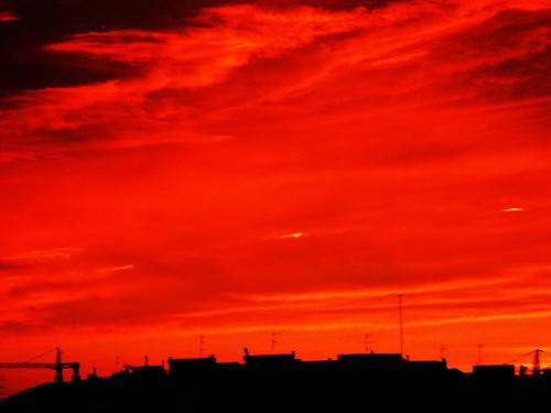 Cromoterapia cielo rojo