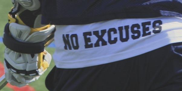Excusas entrenamiento
